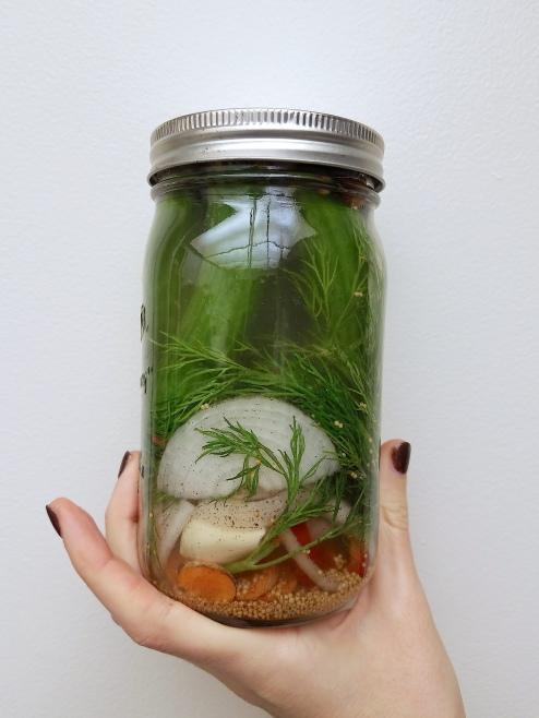 pickles - in jar lid
