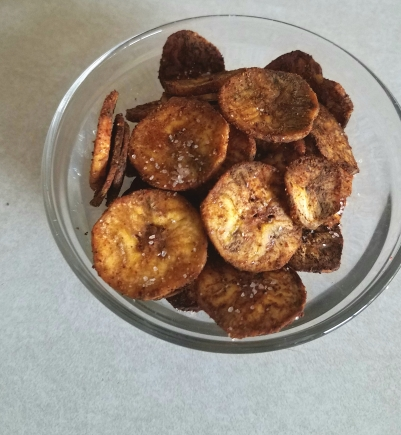 plantain chips done