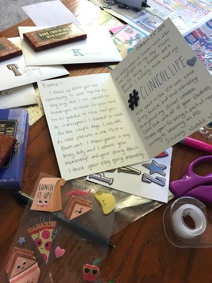 Cards table inside Bonnie