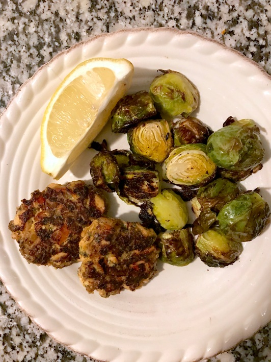 Salmon cakes - plated